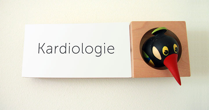 Türschild Praxis für Kinderkardiologie